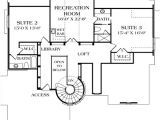Home Plans with Library Turreted Stair In Two Story Library 17509lv