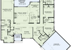 Home Plans with Master Bedroom On Main Floor House Plan 153 2001 4 Bdrm 2 527 Sq Ft Craftsman Home