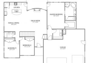 Home Plans with Open Floor Plan Simple Open House Plans Smalltowndjs Com