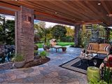Home Plans with Outdoor Living Spaces Outdoor Living Spaces with Water Feature and Greens