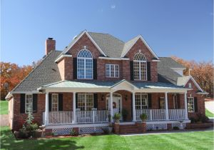 Home Plans with Two Story Brick House Plans with Front Porch