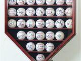 Home Plate Baseball Display Case Plans 30 Baseball Ball Display Case Cabinet Holder Rack Home