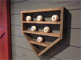 Home Plate Baseball Display Case Plans Baseball Shelf Wooden Home Plate Baseball organizer