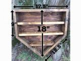 Home Plate Baseball Display Case Plans Wooden Home Plate Baseball Shelf Display Holder by