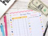 Home Savings Plan 52 Week Savings Plan Free Printable Home organization