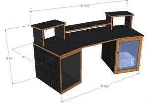 Home Studio Desk Plans Best Recording Studio Desk Ideas Randy Gregory Design