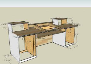 Home Studio Desk Plans Measurements for A Recording Desk Build I Think I 39 M Going