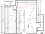 Home theater Floor Plan Home theatre Cybermanor