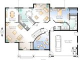 Home theatre Plans Flowing Living Spaces and A Home theater 2159dr 1st
