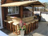 Home Tiki Bar Plans Outdoor Bar Home Bar thatched Roofed Tiki Bar Gazebo
