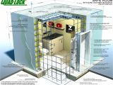 Home Vault Plans Safe Room Construction with Insulated Concrete forms