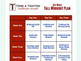 Home Work Out Plan Free 6 Week Fall Workout Plan tone and Tighten