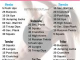 Home Work Out Plans Weekly Home Workout Plans