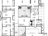 Homes with atriums Floor Plans Contemporary House Plan with Central atrium 0890w