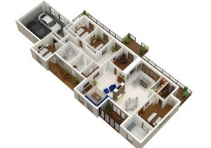 House Design Plans 3d 4 Bedrooms 4 Bedroom Apartment House Plans Futura Home Decorating