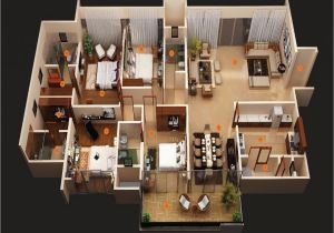 House Design Plans 3d 4 Bedrooms 5 Bedroom House 4 Bedroom House Floor Plans 3d 7 Bedroom