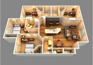 House Design Plans 3d 4 Bedrooms This is A 3d Floor Plan View Of Our 4 Bedrooms 4 Bath