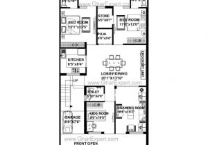 House Plan for 15 Feet by 60 Feet Plot 20 Feet X 60 House Plans