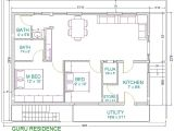 House Plan for 30×40 Site 30×40 2 Bedroom House Plans Plans for East Facing Plot