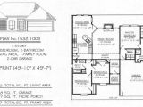 House Plans 1600 to 1700 Square Feet Under 1700 Sq 3 Bedroom House Plans