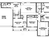House Plans 4 Bedrooms One Floor 4 Bedroom One Story Ranch House Plans Inside 4 Bedroom 2