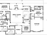 House Plans 4 Bedrooms One Floor 4 Bedroom Single Story House Plans Dream Home