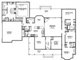 House Plans 4 Bedrooms One Floor One Story Open Floor Plans with 4 Bedrooms Four Bedroom
