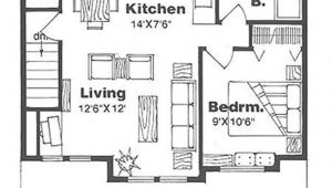 House Plans 500 Sq Ft or Less Farmhouse Style House Plan 1 Beds 1 00 Baths 500 Sq Ft