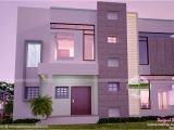House Plans Built for A View Contemporary Home All Side Views Kerala Home Design