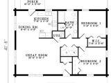 House Plans for 2 Bedroom 2 Bath Homes Plan 110 00919 2 Bedroom 1 Bath Log Home Plan