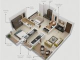 House Plans for 2 Bedroom Homes 2 Bedroom Apartment House Plans