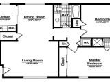 House Plans for 2 Bedroom Homes Open Master Bedroom with Bathroom