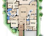 House Plans for Golf Course Lots Mediterranean House Plan Narrow Lot Golf Course Home