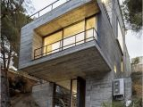 House Plans for Steep Sloping Lots Steep Slope Home Design Goes Vertical Just Like Trees