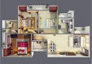 House Plans for Three Bedroom Homes 3 Bedroom Apartment House Plans