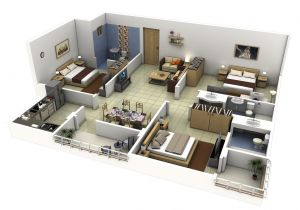 House Plans for Three Bedroom Homes 50 Three 3 Bedroom Apartment House Plans Bedrooms