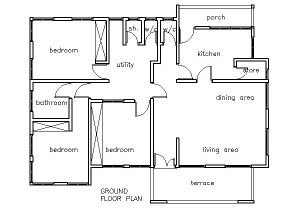 House Plans for Three Bedroom Homes House Plans Ghana 3 Bedroom House Plan Ghana House