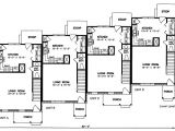 House Plans for Two Family Home Multi Family Plan 45352 at Familyhomeplans Com