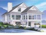 House Plans for Waterfront Homes Coastal House Plans Narrow Lots Waterfront Home Plans