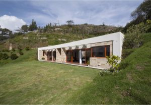 House Plans On A Hill Casa Una Planta Moderna Con Techo Verde