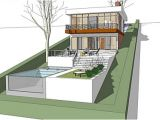 House Plans On Hill Slopes the Architectmodern House Plan for A Land with A Big