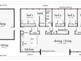 House Plans Rectangular Shape Simple Rectangle Shaped House Plans