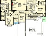 House Plans with 3 Car Garage and Bonus Room 3 Bed French Country House Plan with 3 Car Garage and