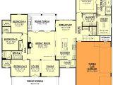 House Plans with 3 Car Garage and Bonus Room Modern Farmhouse Plan with Bonus Room 51754hz