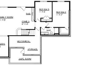 House Plans with A Safe Room Ranch Home Plan with Safe Room 73296hs Architectural