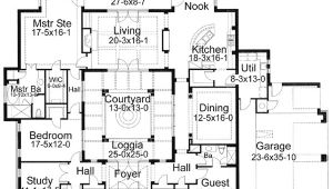 House Plans with Courtyards In Center House Plans with Courtyards Smalltowndjs Com