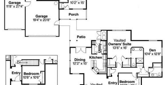 House Plans with Detached Guest Suite Detached Guest Cottage or In Law Suite House Plan Hunters