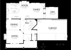 House Plans with Double Sided Fireplace Craftsman House Plan 22113a the Clairborne 2977 Sqft 4