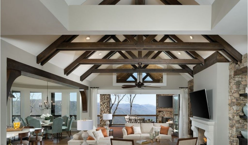 House Plans With Exposed Beams Living Rooms With Rafters Best Site