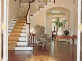 House Plans with Foyer Entrance southern Plantation House Entry Foyer with Inlaid Wood